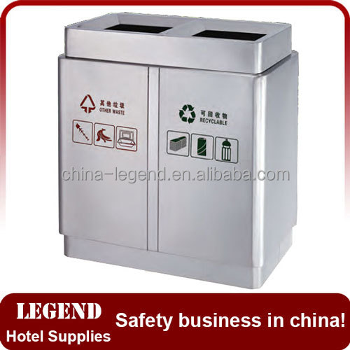 Top open garbage waste bin for rubbish