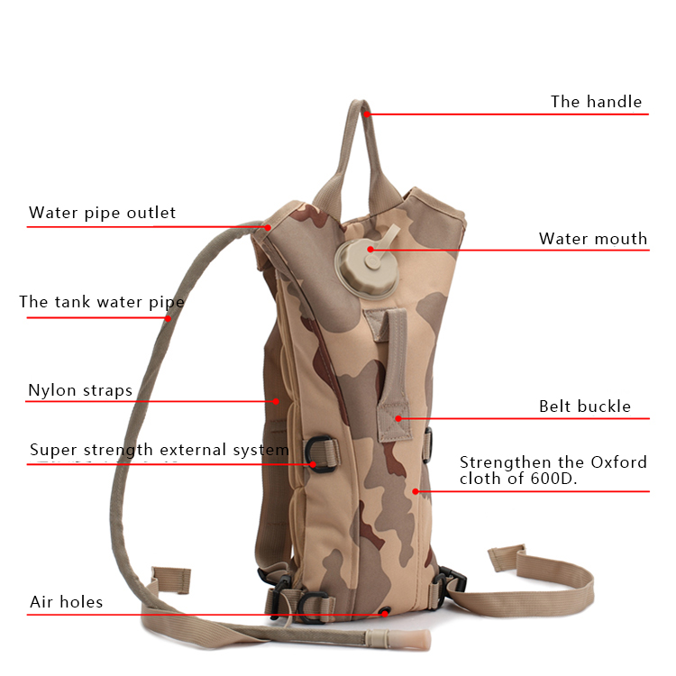 Military Tactical Hydration Bag Oxford Backpack Wholesale