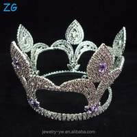 Fashion Design Diamond Round Pageant Tiara Full Round Tiara crystal wedding headpiece