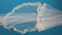 Cheapest Wedding decoration lace embroideried petal taffeta bridal veil