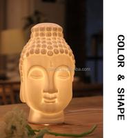 Buddha Head Art Decorative Ceramic Lamp