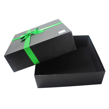 negro venta al por mayor caja de cartón corrugado fabricante en