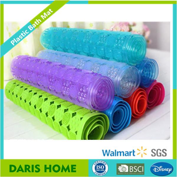 플라스틱 욕실 흡입 컵, 미끄럼 방지 PVC 목욕 매트 투명-목욕 ...