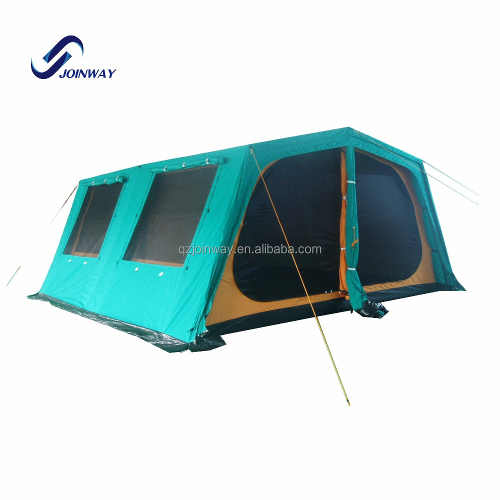 JWF-073 China modern design high grade luxury family camping 8 10 person tents