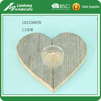 Home decoration wooden candle holder for decoration