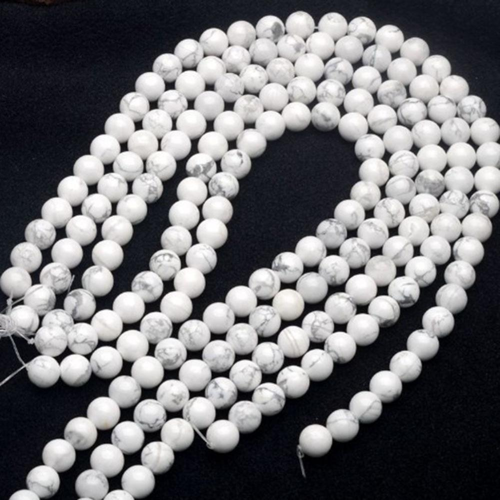 6mm 8mm 10mm Round White Howlite beads Natural White Turquoise Beads