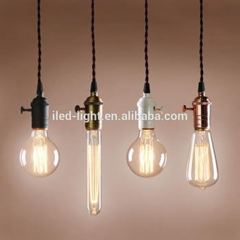 LED Lighting Vintage E27 Edison Style Light Bulb Socket Lamp Holder Pendant Light socket bulb vintage light
