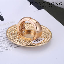 DongDong DD-R-024 custom fashion design gold plated butterfly rhinestone men's ring