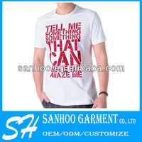 Customize Man'S T-Shirts 80% Cotton 20% Polyester