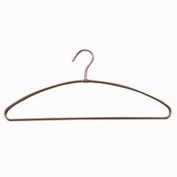 Cheap Simple Design Multifunctional Aluminum Rose Gold Wide Shoulder Coat Hanger