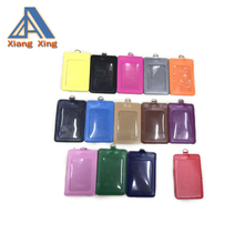 xiangxing brand custom wholesale Pu leather school id card holder