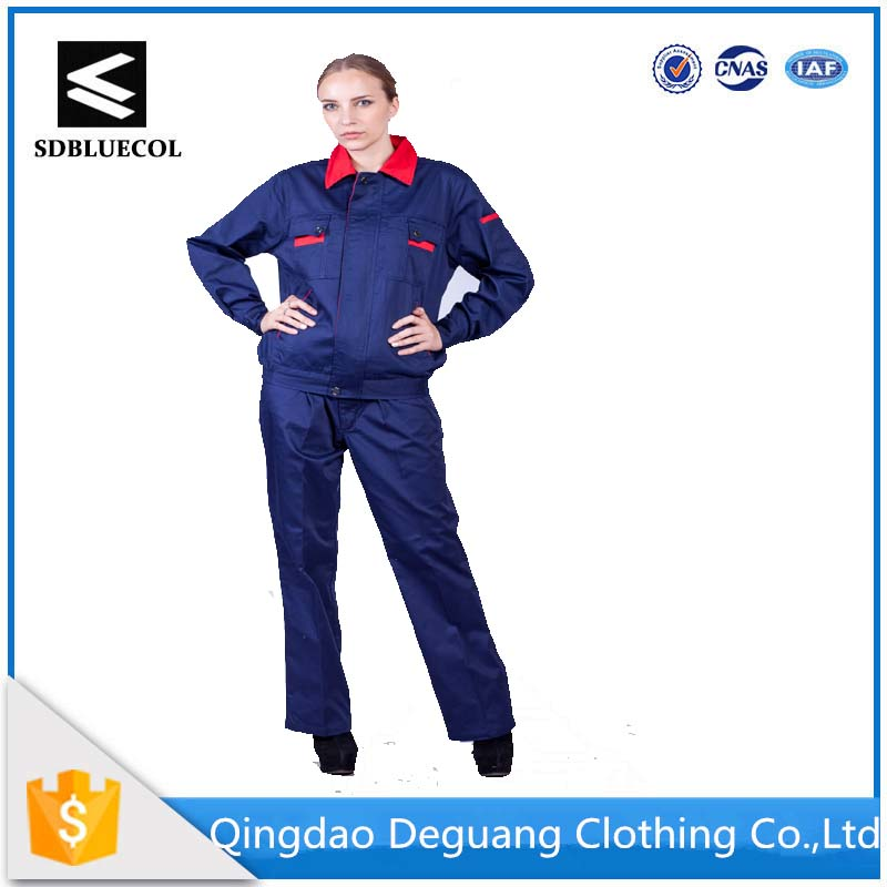 Professional women's long sleeve100% cotton uniform for worker