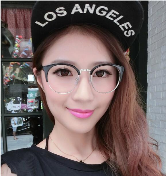 75d4f6a367 Wholesale-2015 Semi-rim Half Frame Women Vintage Eyeglasses Frame ...