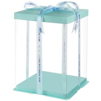 Transparent Plastic Cake Baking Box Clear PET For wedding Gift box Birthday Party Tall Box