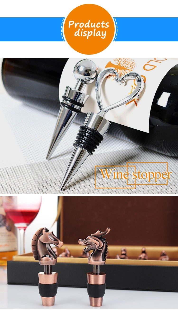 food grade rubber diamond wine stopper wedding gift for fresh