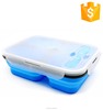 OEM Service Food Grade Storage Boxes & Bins 3 divider silicone folding lunch box camping food storage box