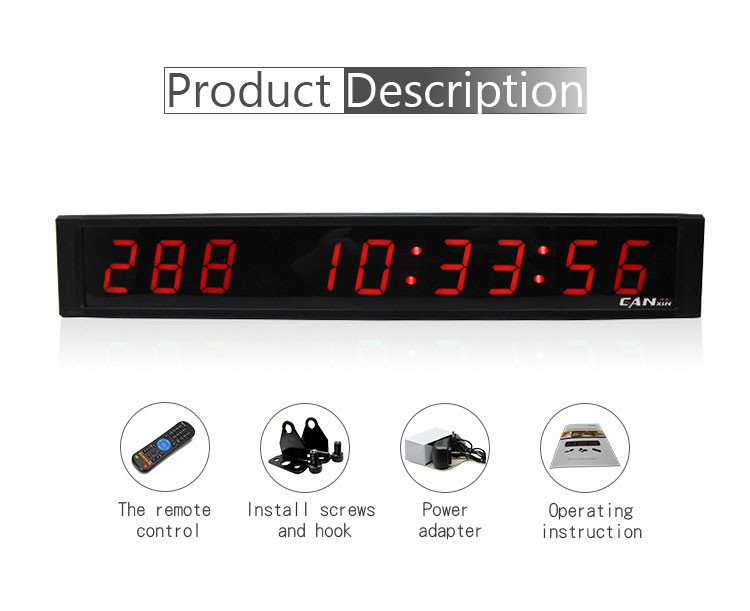 High grade electronic digit 1 inch days hours minutes seconds led countdown timer