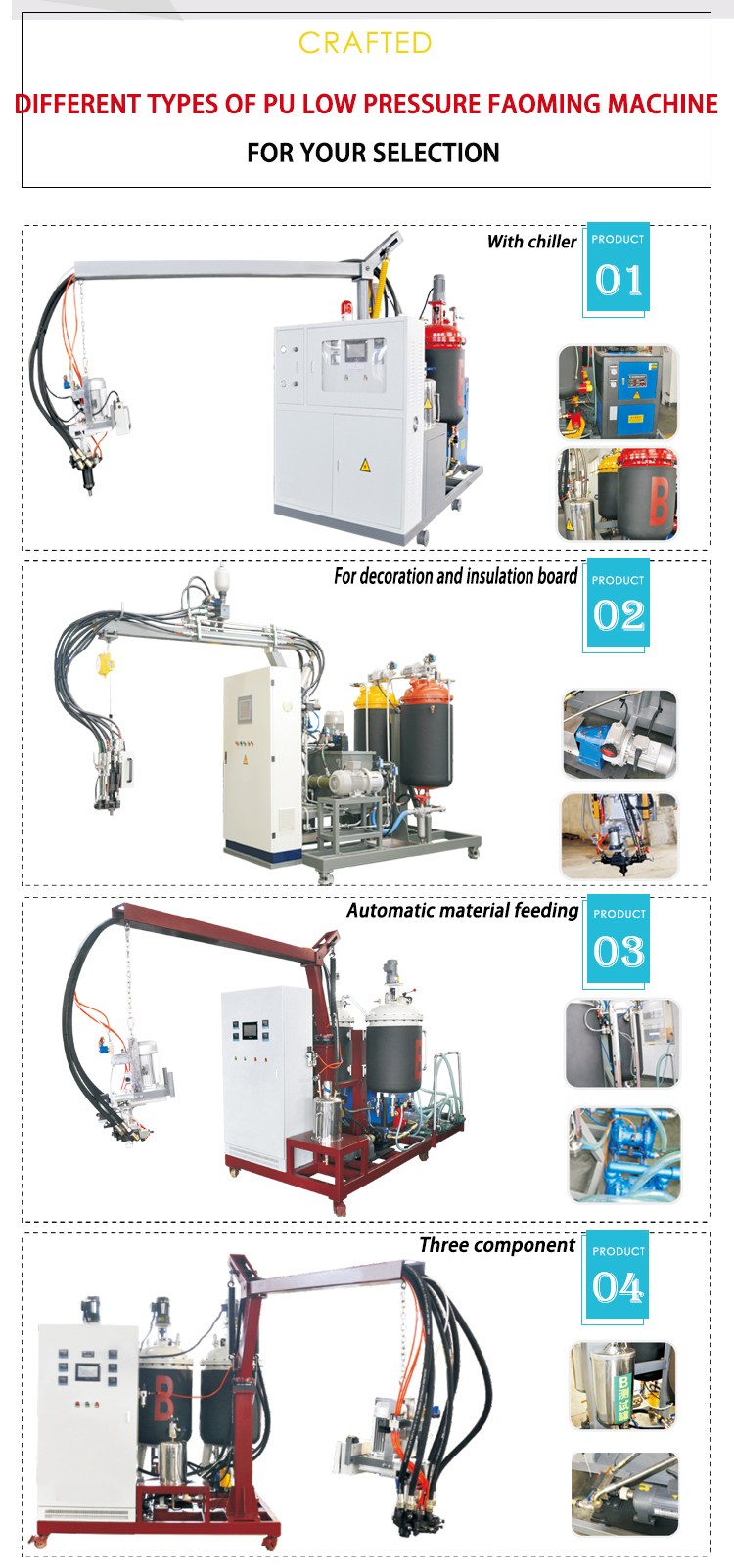 sandwich pu foaming machine