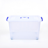 Customized wholesale waterproof plastic storage box for storage clothes,collapsible storage box with lid