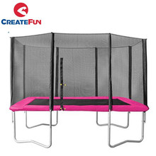CreateFun Cheap Rectangular Professional 8X12 FT Big Rectangle Trampoline outdoor with safety Enclosure Net for sale