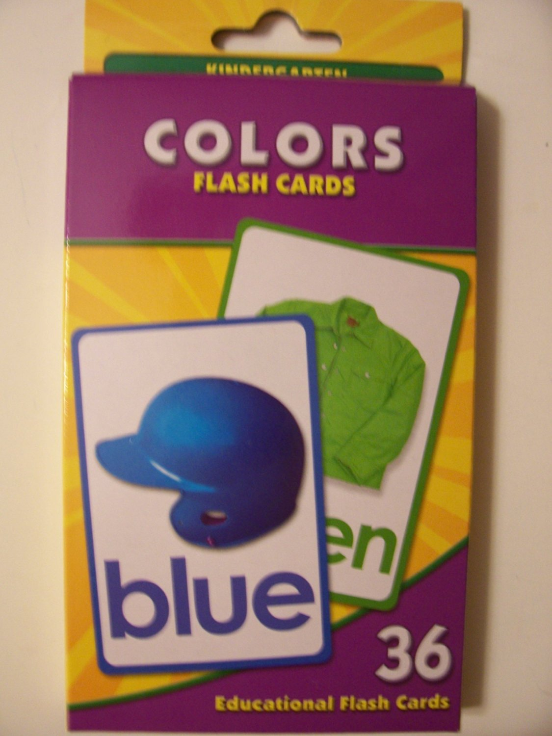 Educational Flash Cards ~ Colors (36 Flash Cards; Kindergarten)