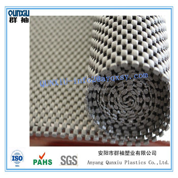 high quality pvc foam mesh matnon slip rug padanti slip nat