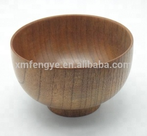 Wooden Nature Lacquer Bowl Wooden Soup Bowl Wood Rice Bowl