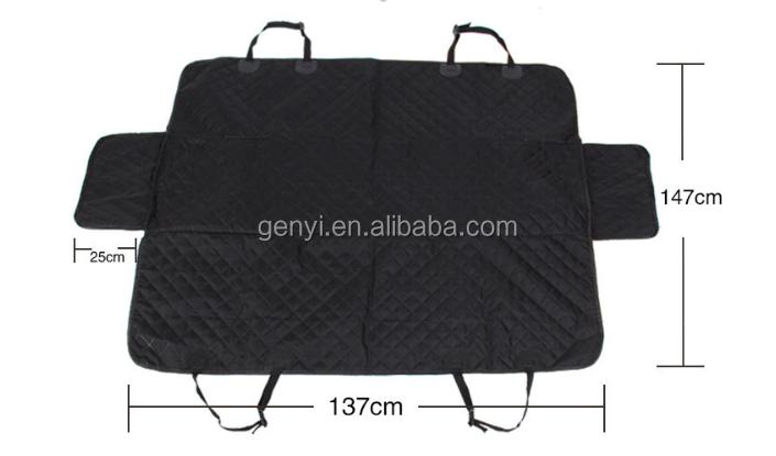 Best Seller Pet Levert Achterbank Hond Hangmat Reizen Bed Auto Hond Waterproof pet car Seat Cover Zwart Voor Back seat Guangzhou