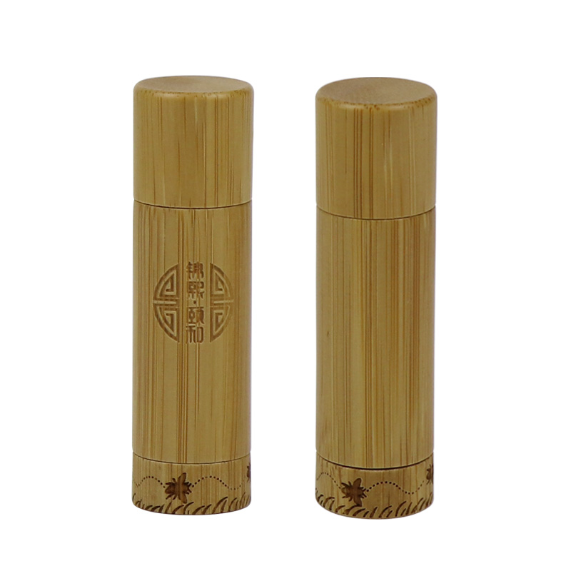 China supplier environmental friendly bamboo lip balm tubes container for bamboo package