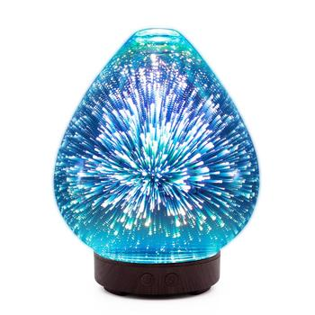 Factory wholesale 3d glass night light fragrance / aroma oil diffuser / essential oil diffuser