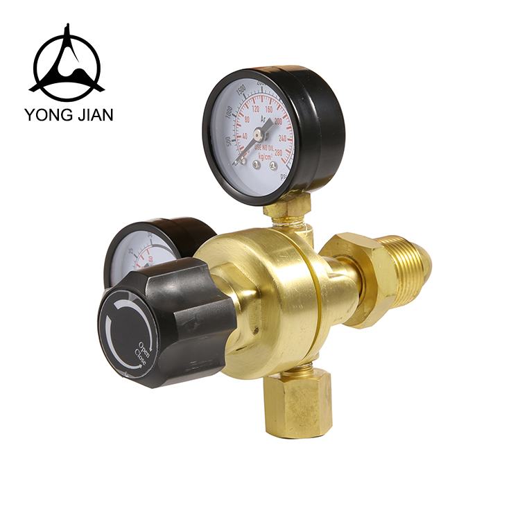Argon/Co2 Pressure Regulator Mini Co2 Gas Regulator With Meter