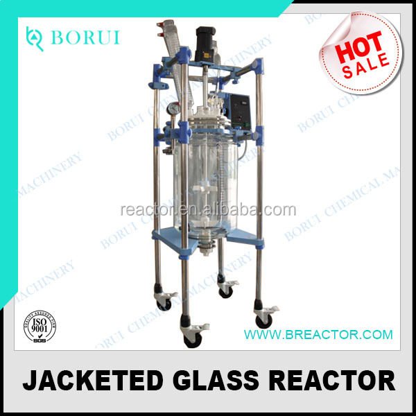jacketed glass reactor / double layer glass reactor / 50L 100L galss reactor