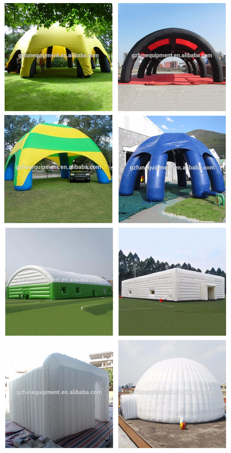 colorful inflatable tent