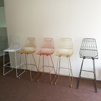 Terrific Stackable Rose Gold Metal Wire Bar Chair Harry Bertoia Wire Bar Chair Buy Metal Frame Stackable Bar Chair Copper Wire Bar Stools Rose Gold Wire Beatyapartments Chair Design Images Beatyapartmentscom