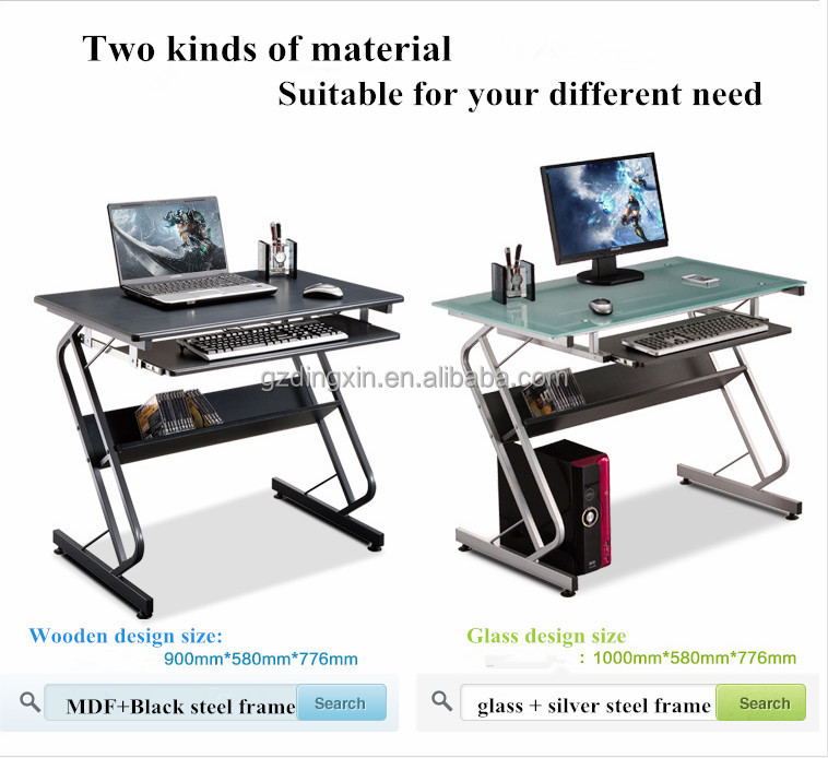 Mobile Compact Complete Computer Workstation Desk