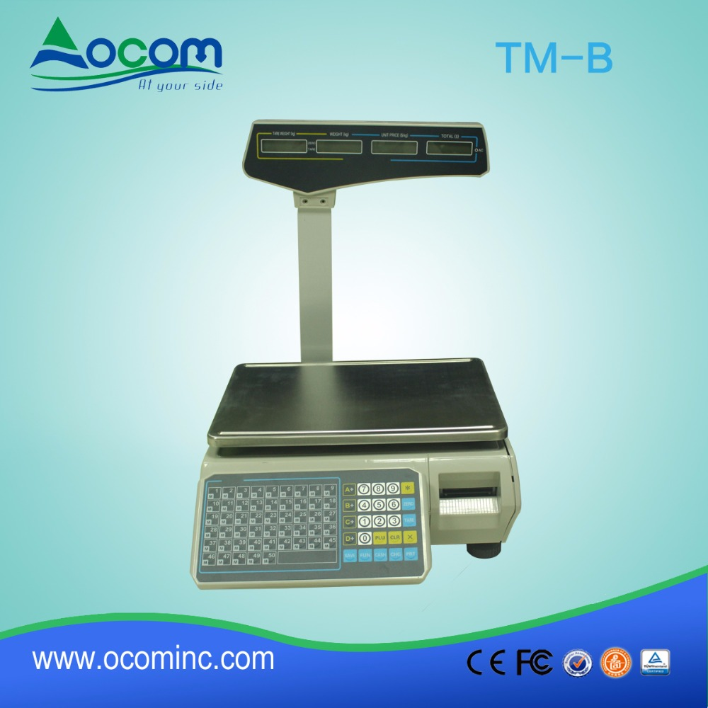 TM-B Barcode Label Printing Electronic Weighing <strong>Scales</strong> Maximum Weighing 30KG