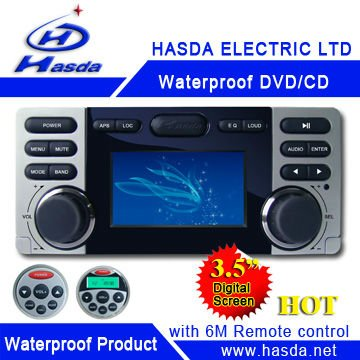 Waterproof DVD with 3.5 inch TFT ,radio player. Hasda H-3009