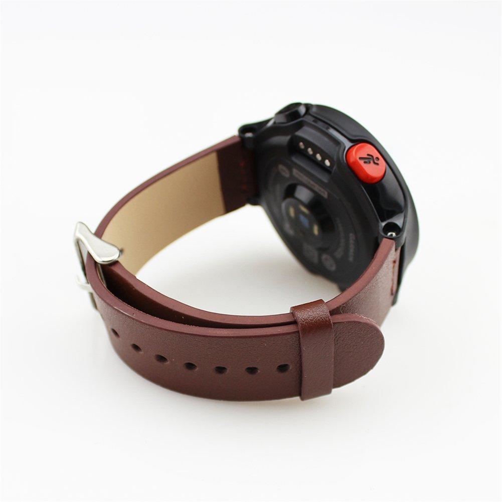 Garmin Forerunner 230 235 630 Replacement Band,DAYJOY Elegant Design Genuine Leather Watch Strap Adjustbable Wrist Band for Garmin Forerunner 230 235 630 (BROWN)
