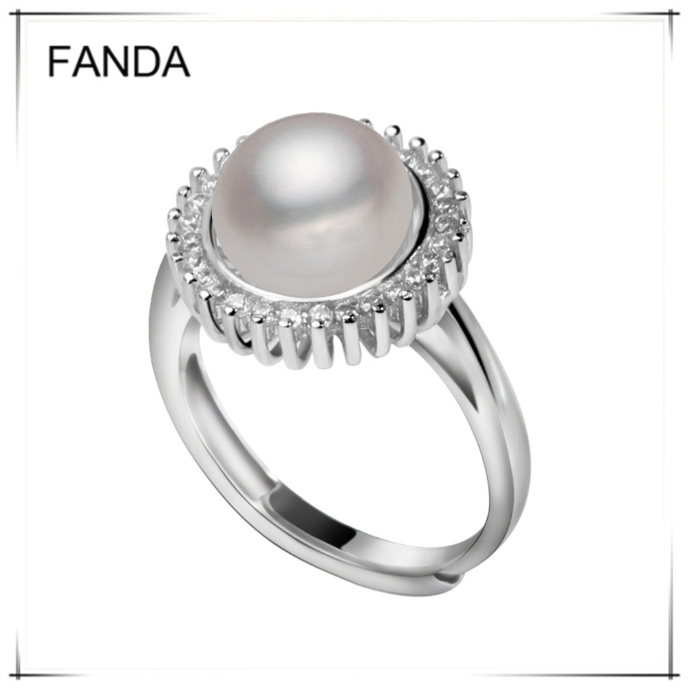 Wholesale Freshwater Cultured Pearl Ring Design For Women 925 Silver Pearl  Finger Ring  Alibaba