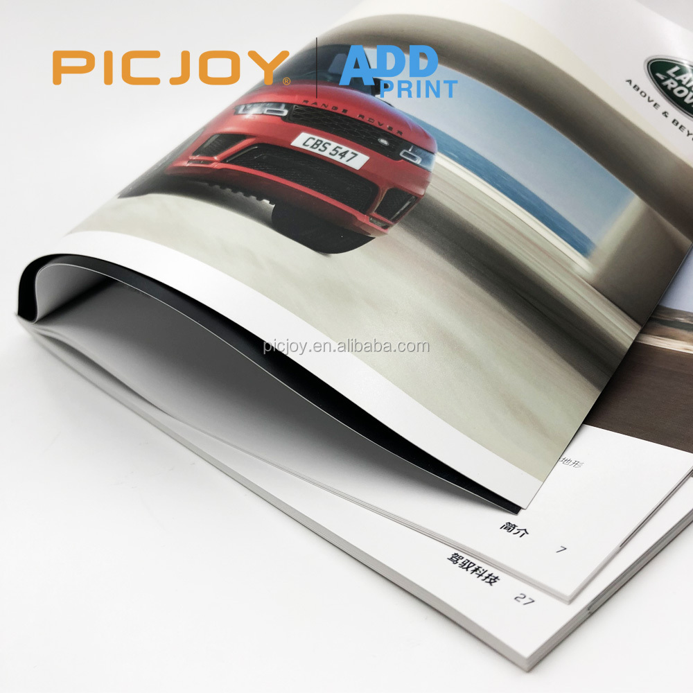 295*210mm 86P burst perfect binding Luxurious full color catalog printing in shanghai