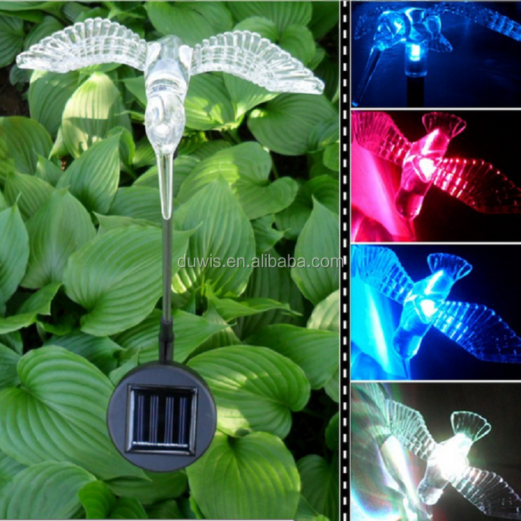 Solar Lawn Light Hummingbird Dragonfly Butterfly Figurine Path Landscape Walkway Lawn Yard Lamp Ornament Animal Lighting