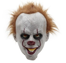 Vendita calda Stephen del Re Si Pennywise Maschera In Lattice <span class=keywords><strong>di</strong></span> Halloween Spaventoso Horror Clown Joker Maschera