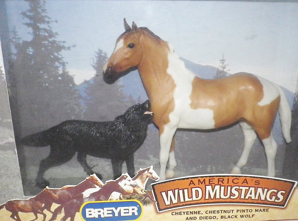 Buy Breyer Wild Mustangs Cheyenne Chestnut Pinto Mare Diego Black Wolf In Cheap Price On Alibaba Com