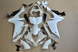 Wotefusi Brand New Motorcycle ABS Plastic Unpainted Polished Needed Injection Mold Bodywork Fairing Kit Set For Yamaha YZF R1 2007 2008 White Base Color