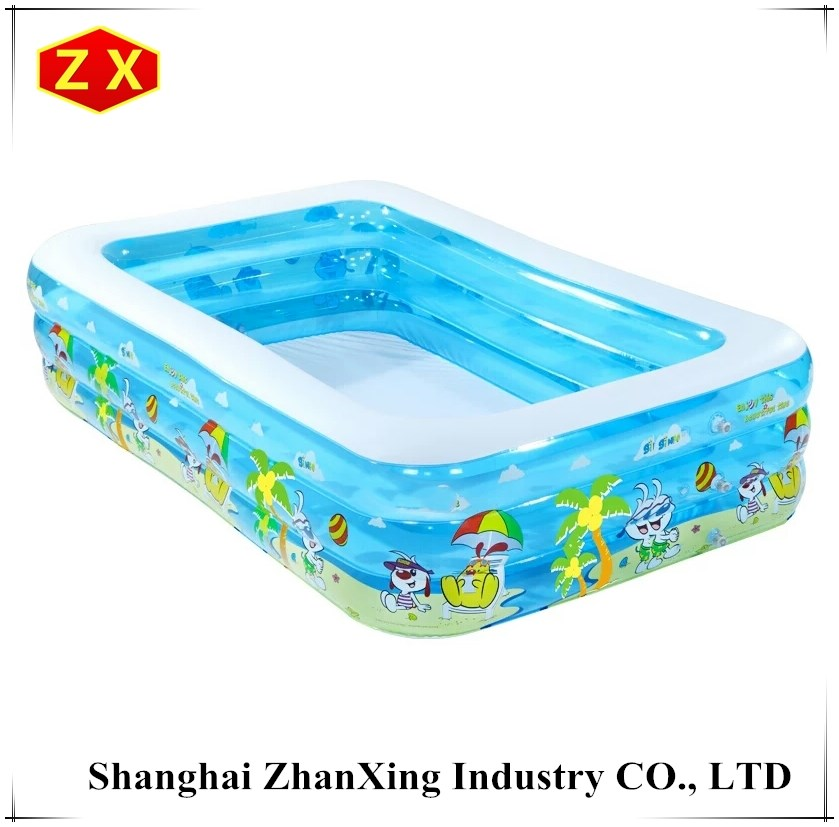 durable swim pool inflatable family rectangular swimming pool
