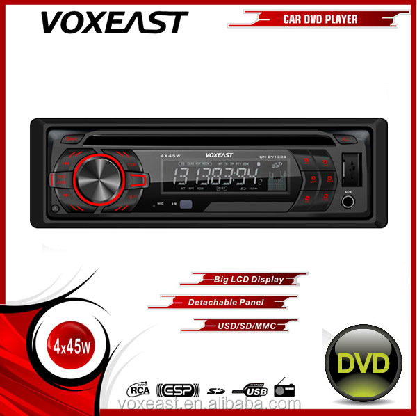 1 din Car DVD player with Detachable panel and rear Aux input