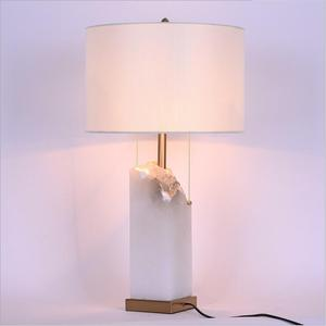 Modern jade base desk lamp led home living room bedroom decor table lamp with cover