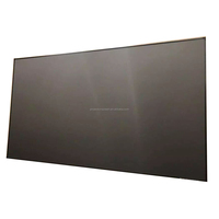 3D silver fabric curved fixed frame projector screen