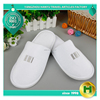 Polyester Velvet Pile Hotel Slippers / Bulk Women's Velour Pile Guest Room Slippers / Wholesale Ladies' Closed Toe Spa Slippers
