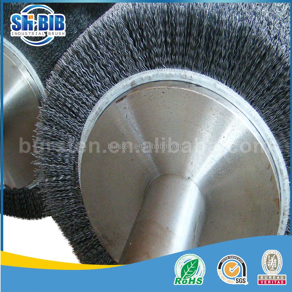 Polish Steel Wire Cylindrical Brush, Polish Steel Wire Cylindrical ...